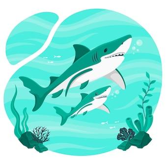 Illustration de concept de bébé requin