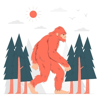 Illustration de concept bigfoot