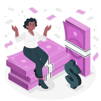 Illustration de concept de billets de banque