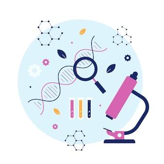 Illustration de concept de biotechnologie