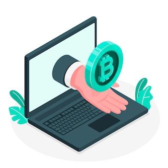 Illustration de concept bitcoin