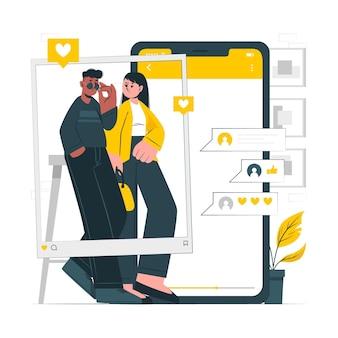 Illustration de concept de blog de mode