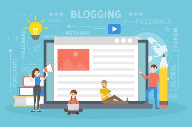 Illustration de concept de blog