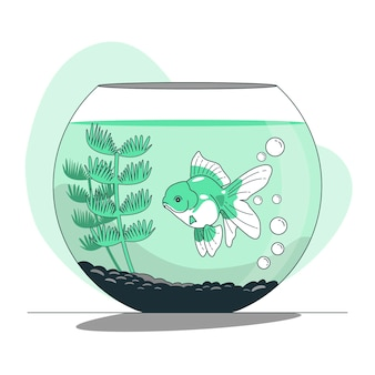 Illustration de concept de bocal à poisson