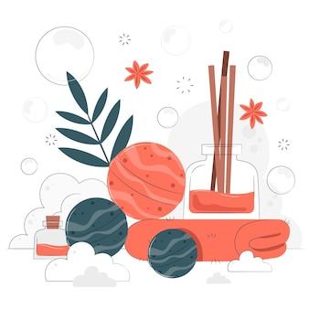 Illustration de concept de bombe de bain