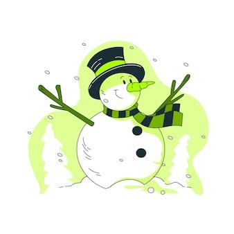 Illustration de concept de bonhomme de neige