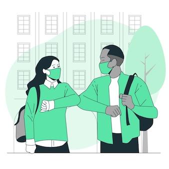 Illustration de concept de bosse de coude