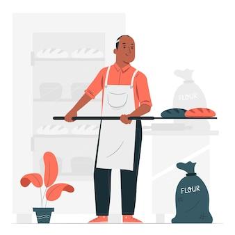 Illustration de concept de boulanger