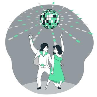 Illustration de concept de boule disco