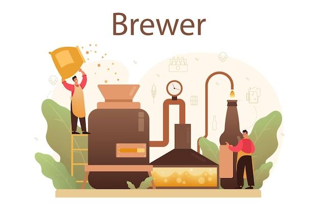 Illustration de concept de brasserie