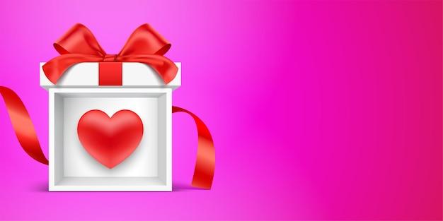 Illustration de concept de cadeau romantique