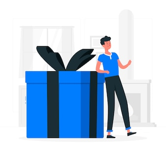 Illustration de concept cadeau