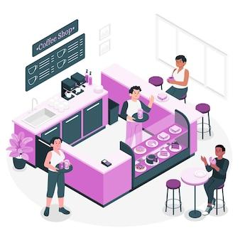 Illustration de concept de café