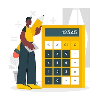 Illustration de concept de calculatrice