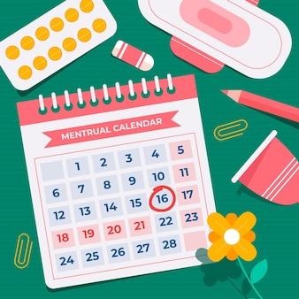 Illustration de concept de calendrier menstruel