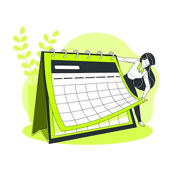 Illustration de concept de calendrier