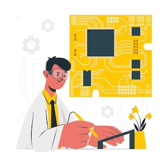 Illustration de concept de carte de circuit imprimé