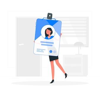 Illustration de concept de carte d'identité