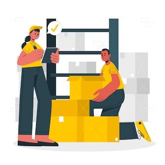 Illustration de concept de cases à cocher