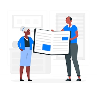 Illustration de concept de catalogue