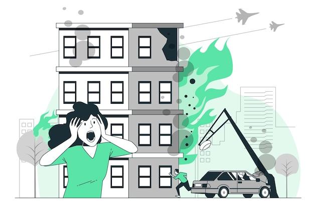 Illustration De Concept De Chaos Vecteur gratuit