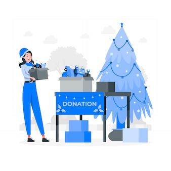 Illustration de concept de charité de noël