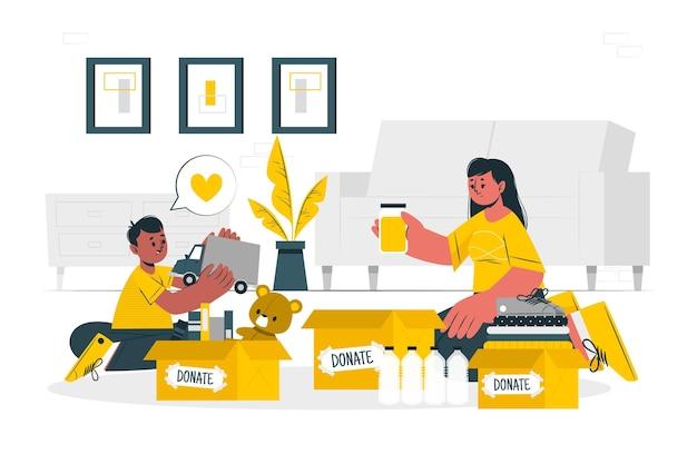 Illustration de concept de charité