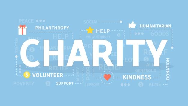 Illustration de concept de charité.