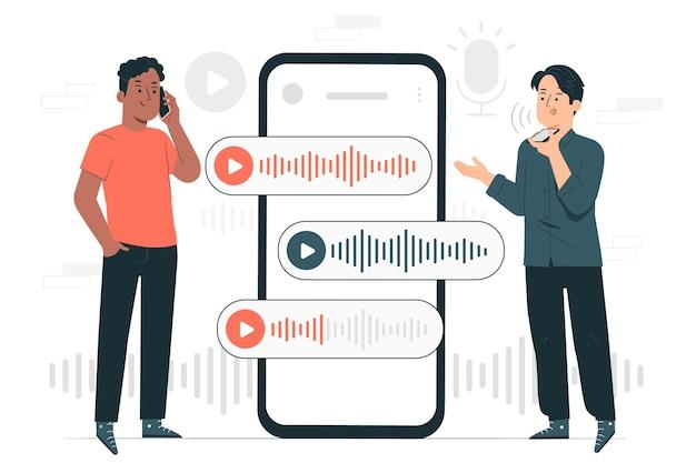 Illustration de concept de chat vocal
