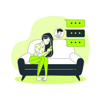 Illustration de concept de chat