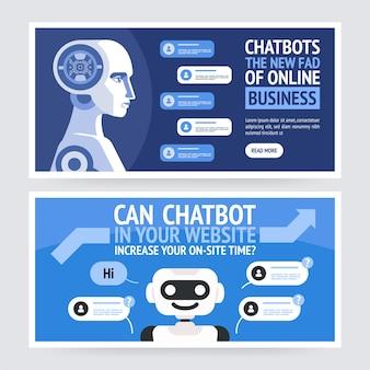 Illustration de concept de chatbot