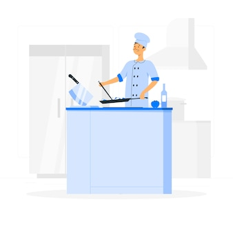 Illustration de concept de chef