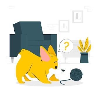 Illustration de concept de chien prudent