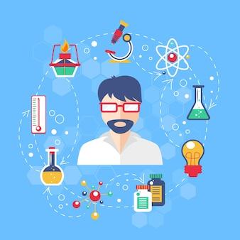 Illustration de concept de chimie