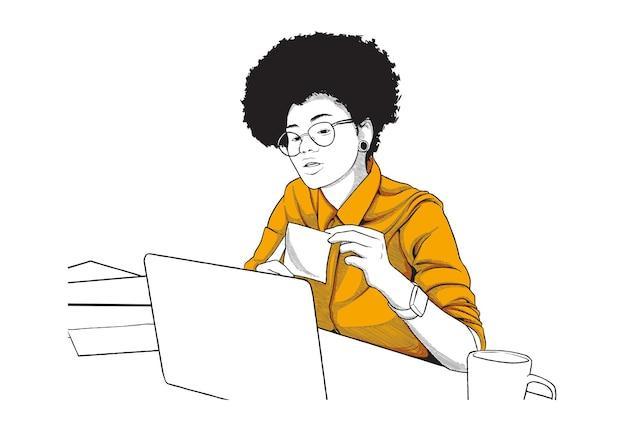 Illustration de concept de classe en ligne