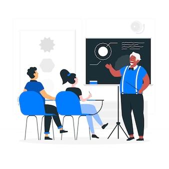 Illustration de concept de classe