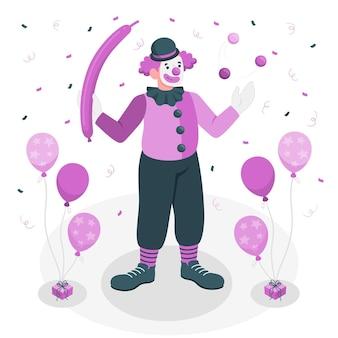 Illustration de concept de clown