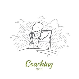 Illustration de concept de coaching