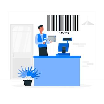 Illustration de concept de code à barres