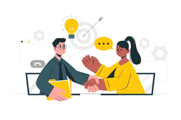 Illustration de concept de collaboration en direct