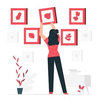 Illustration de concept de collection