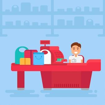 Illustration de concept commercial