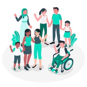 Illustration de concept communautaire