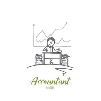 Illustration de concept comptable