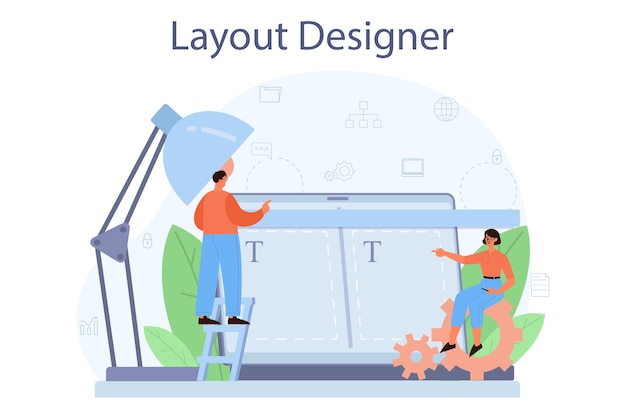 Illustration de concept de concepteur de mise en page