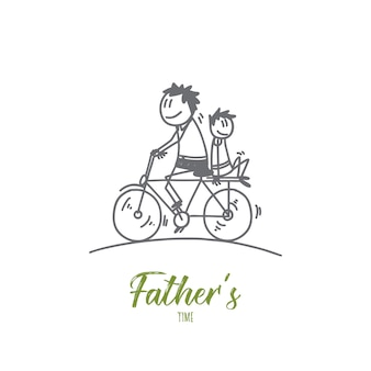 Illustration de concept de concepteur de temps pères