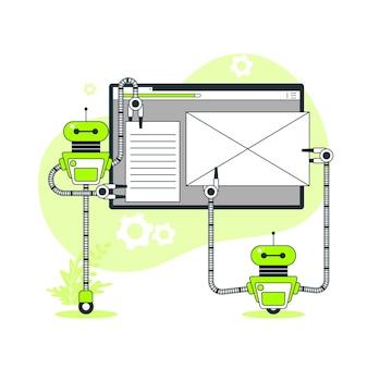 Illustration de concept de configuration de site web
