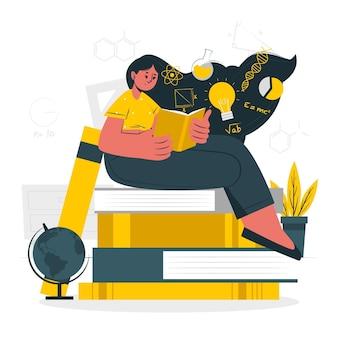 Illustration de concept de connaissances