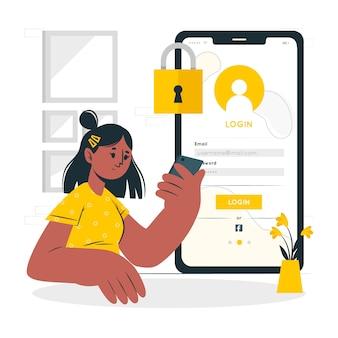 Illustration de concept de connexion
