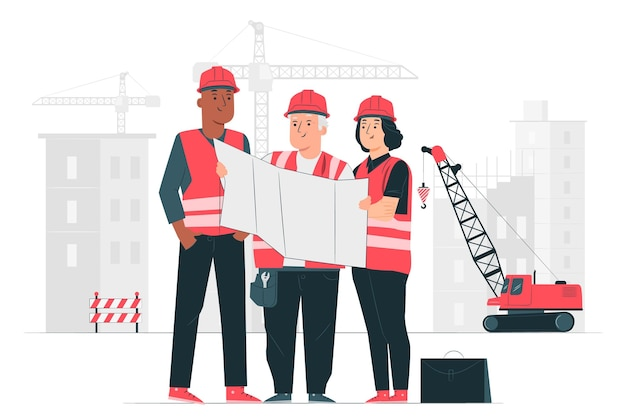 Illustration de concept de construction